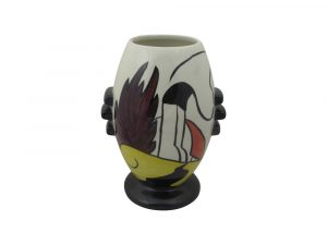 Lorna Bailey 3 Knob Vase House and Path Design