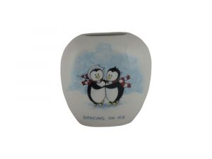 Dancing on Ice Design Purse Vase Tony Cartlidge Ceramic Artist