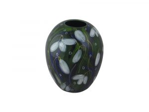 Snowdrop Design Delta Shaped Vase Anita Harris Art Pottery