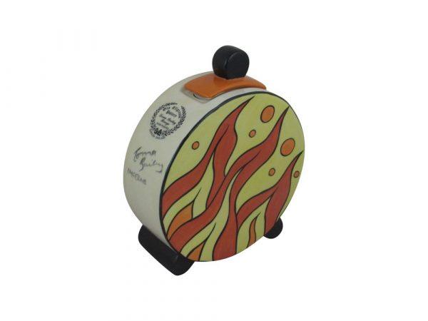 Lorna Bailey Lidded Pot Inferno Design