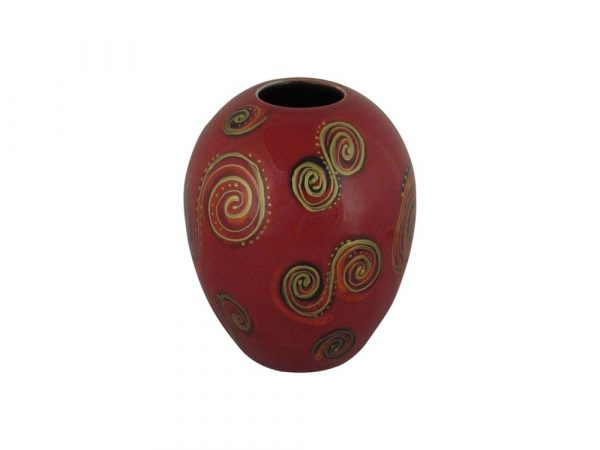 Fantasy Curves Design Delta Shaped Vase Anita Harris Art Pottery