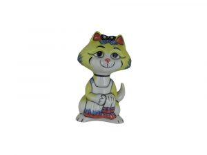Lorna Bailey Art Ware Pottery Cat Busy Mummy