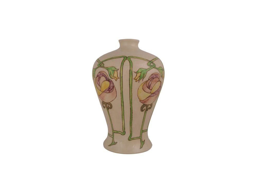 Burslem Pottery Stoneware Vase Art Nouveau Design Stoke Art Pottery