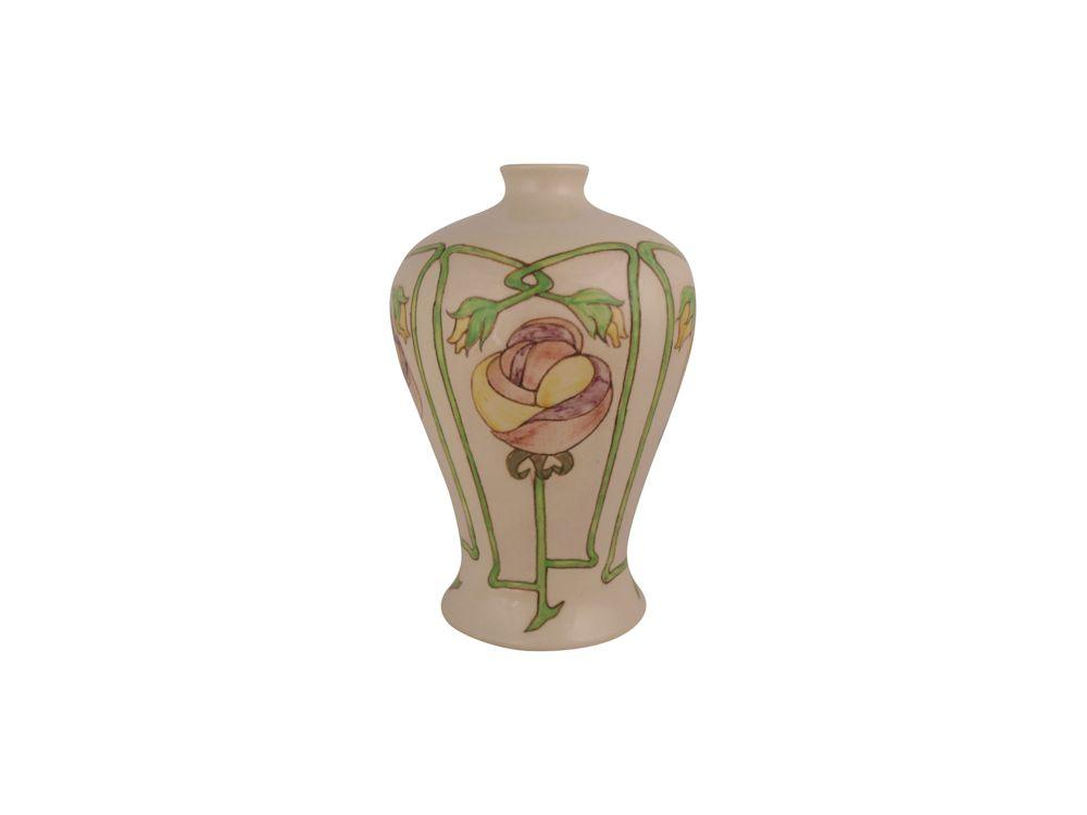 Burslem Pottery Stoneware Vase Art Nouveau Design Stoke