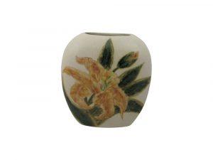 Burslem Pottery Small Purse Vase Lily Design