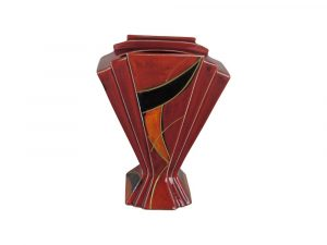 Eclipse II Design Fan Vase Anita Harris Art Pottery