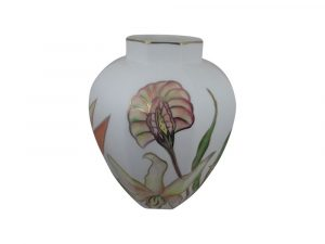 Emma Bailey Ceramics Hexagon Vase Tropical Fruit Design