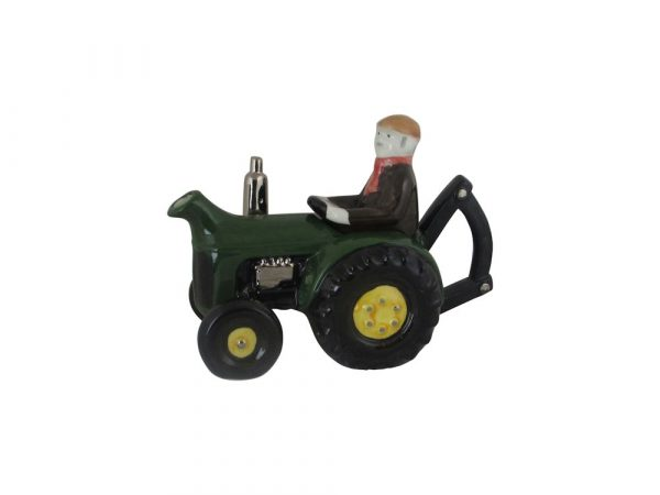 Farm Tractor Collectable Teapot Green Colour Way Carters of Suffolk