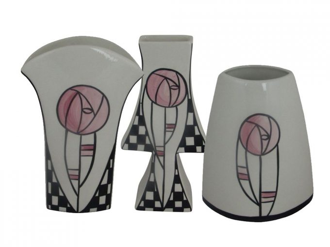 Lorna Bailey Macintosh and Glasgow Rose Vases