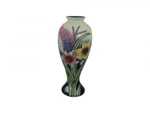 Old Tupton Ware Tall Vase Summer Bouquet Design