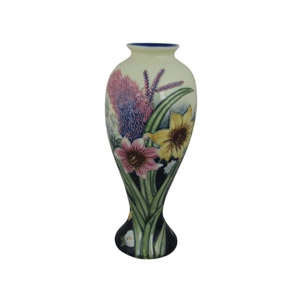 Old Tupton Ware Tall Vase Summer Bouquet Design Stoke Art Pottery
