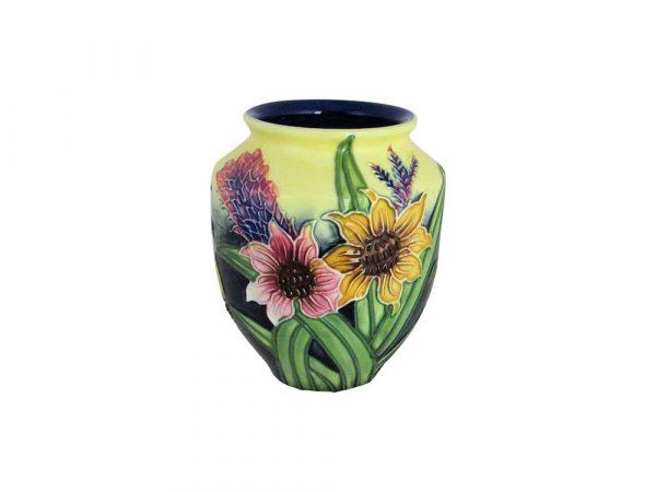 Old Tupton Ware 4 Inch Vase Summer Bouquet Design Stoke Art Pottery
