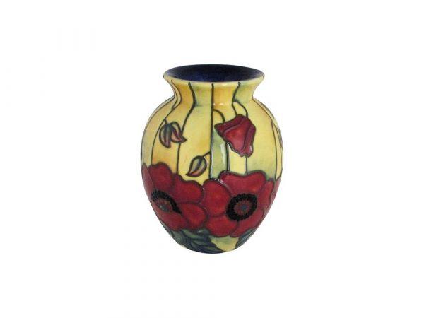 Old Tupton Ware 10cm Vase Yellow Poppy Design Stoke Art Pottery