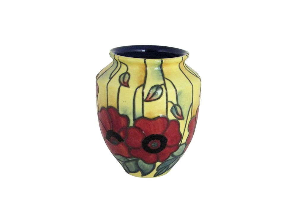 Old Tupton Ware 4 Inch Vase Yellow Poppy Design