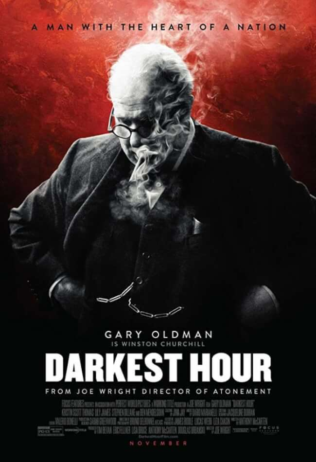 darkest hour winston churchill poster