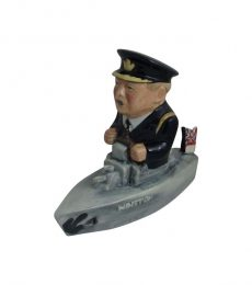 Churchill Naval Ship Figure Black Uniform Bairstow Pottery