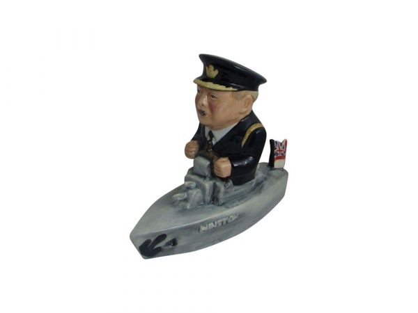 Winston Churchill Naval Figure Black Uniform Bairstow Pottery
