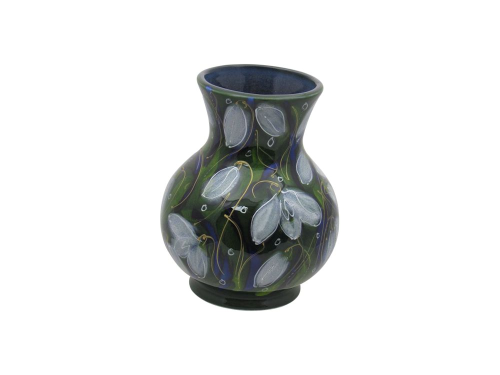 Snowdrop Design Trojan Shaped Vase Anita Harris Art Pottery