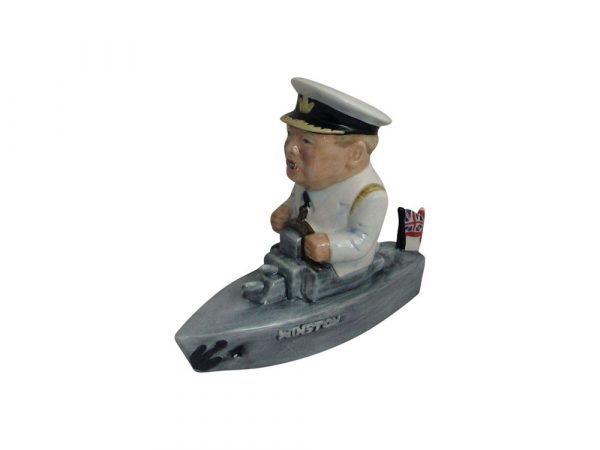 Winston Churchill Naval Figure White Jacket Colour-Way Bairstow Pottery