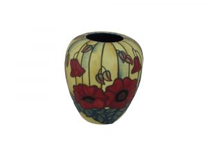 Old Tupton Ware 6 inch Vase Yellow Poppy Design