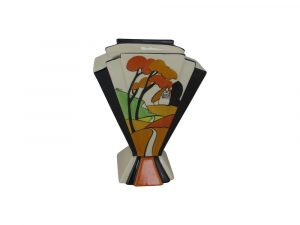 Marie Graves Ceramic Artist Fan Vase Cliff Cottage Design
