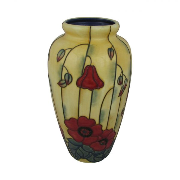 Yellow Poppy Tall Vase by Old Tupton Ware