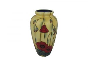 Old Tupton Ware 11 Inch Vase Yellow Poppy Design