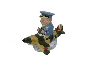 Winston Churchill Spitfire Figure Bairstow Pottery