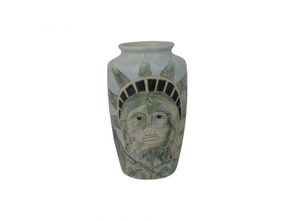 Burslem Pottery Small Vase Man of Fire Design