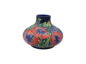 Old Tupton Ware Hibiscus Design 6 inch Squat Vase