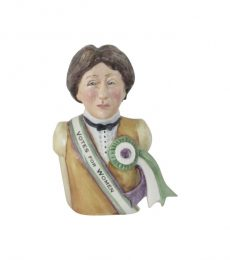Emmeline Pankhurst Votes for Women Toby Jug Bairsow Pottery