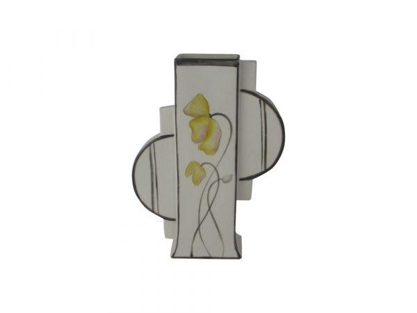 Emma Bailey Ceramics Geo Vase Yellow Petals Design