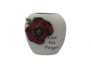 Anita Harris Art Pottery 12cm Purse Vase Lest We Forget Design