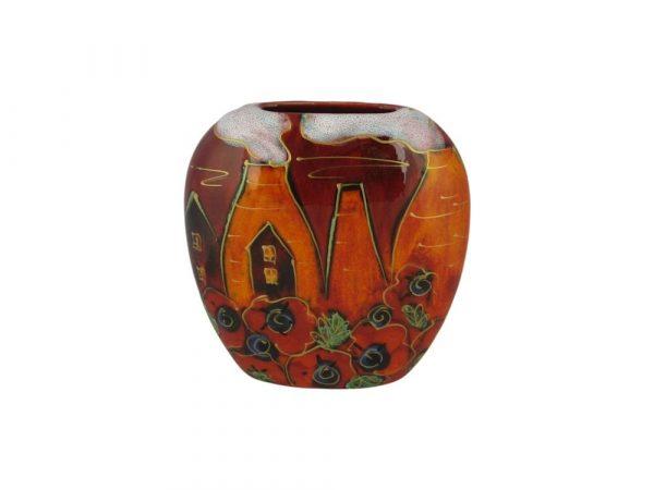 Anita Harris Art Pottery 12cm Vase Potteries Poppies Design