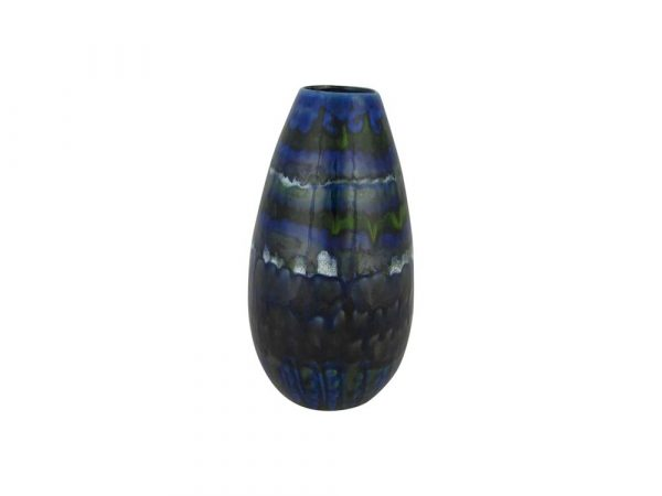 Anita Harris Art Pottery Cone Vase Blue Volcano Design