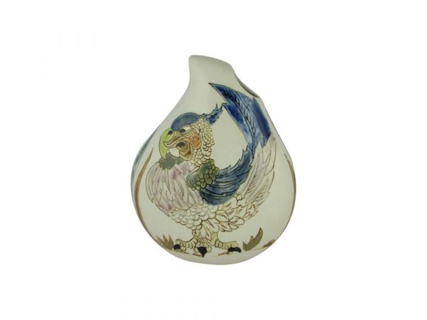 Burslem Pottery Teardrop Vase Perez the Parrot Design