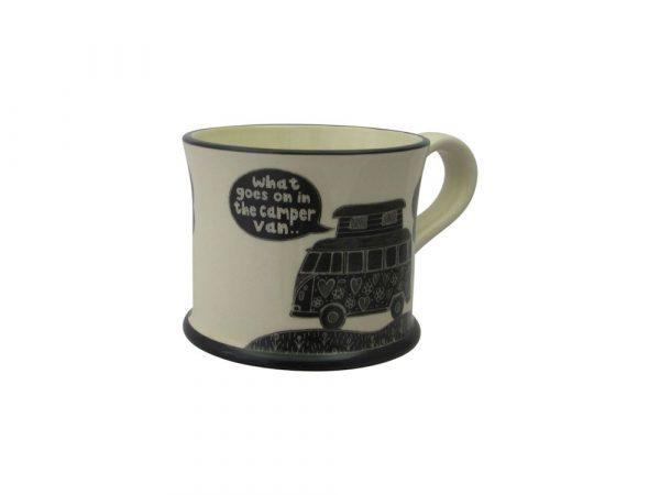 Moorland Pottery Mug What Goes on in the Camper Van