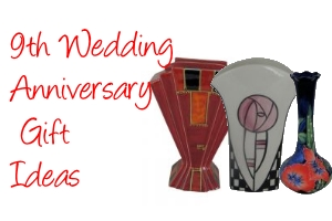 9th anniversary pottery gifts advert