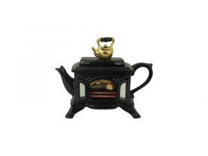 Wood Burner Black One Cup Novelty Teapot Ceramic Inspirations