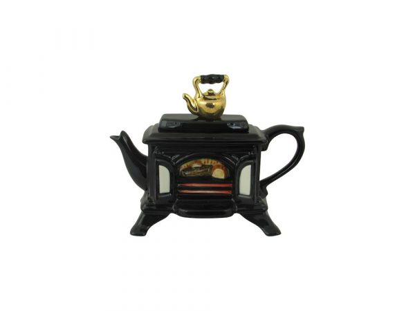 Wood Burner Black One Cup Novelty Teapot Ceramic Inspirations
