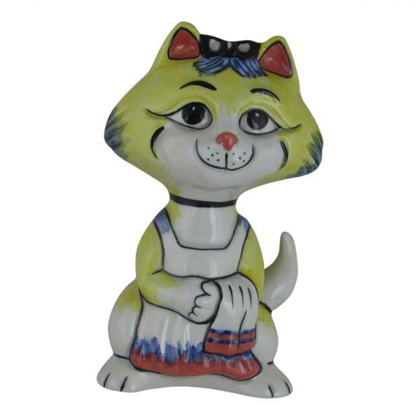 Lorna Bailey Art Ware Pottery Cat Busy Mummy