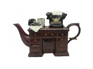 Paul Cardew Crime Writers Desk Novelty Teapot