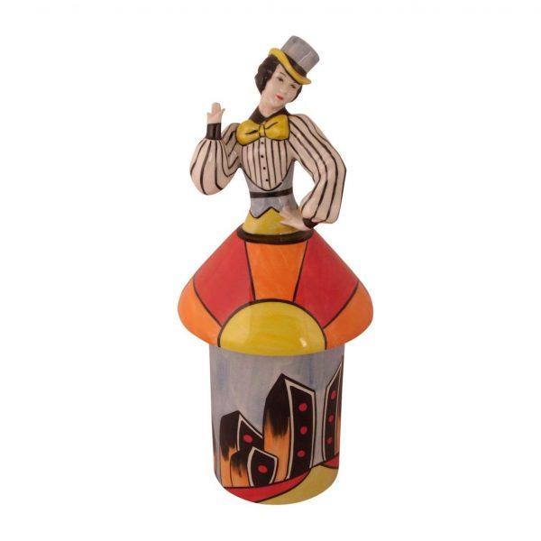 Lorna Bailey Artware Art Deco Ginger Lidded Pot