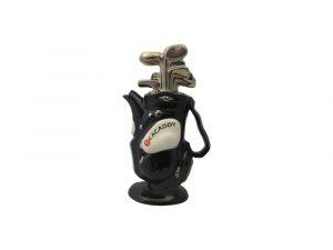 Golf Bag Medium Teapot Black Colourway Ceramic Inspirations