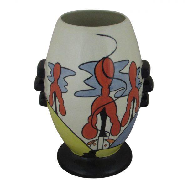 Inglewood Design Three Knob Vase Lorna Bailey Art Ware