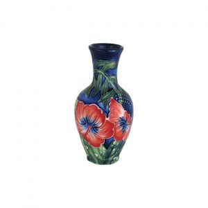 Old Tupton Ware Small Vase Hibiscus Design