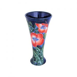 Old Tupton Ware Flared Vase Hibiscus Design