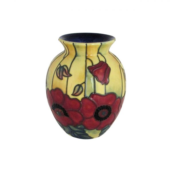 Old Tupton Ware 10cm Vase Yellow Poppy Design