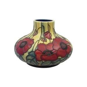 Old Tupton Ware Yellow Poppy Design 6 inch Squat Vase