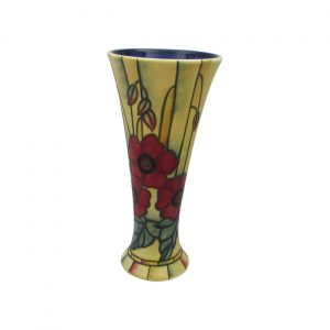 Old Tupton Ware Yellow Poppy Design 8 inch Flared Vase